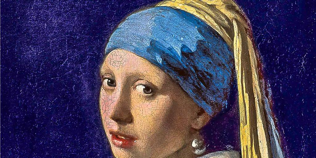 Vermeers Gemälde Mädchen Mit Dem Perlenohrring Wird Gescannt