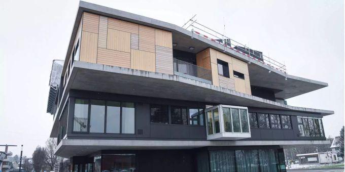 Fassade Des Nest Gebäude Soll Energie Liefern
