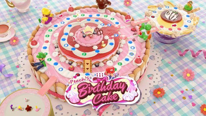 torta di compleanno alla pesca