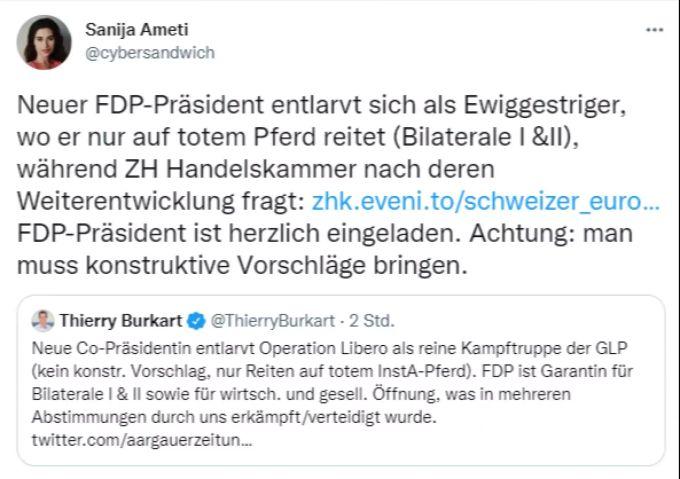 Tweet Sanija Ameti