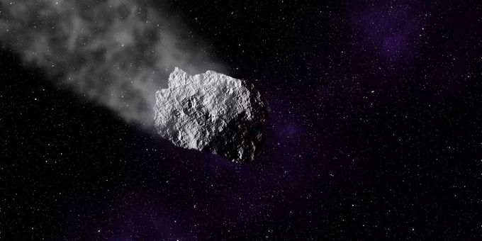 Asteroid animation space stars