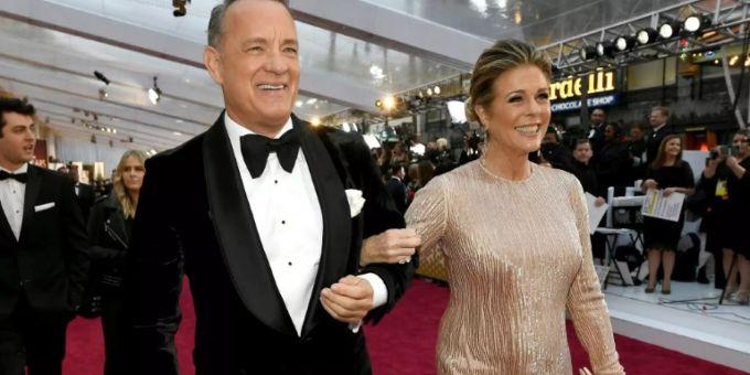 Tom Hanks e sua moglie Rita Wilson
