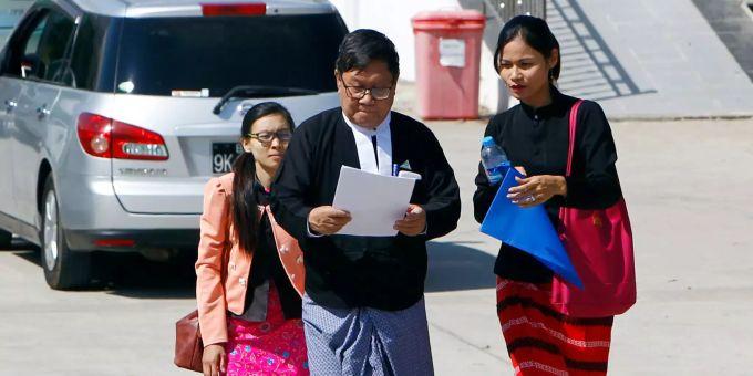Bildergebnis für Anwalt Khin Maung Zaw