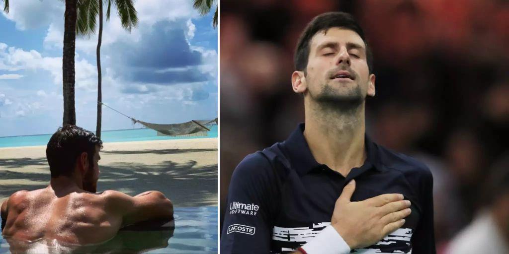 Novak Djokovic vermutet Photoshop-Bschiss hinter Khachanov-Muskeln - Nau.ch