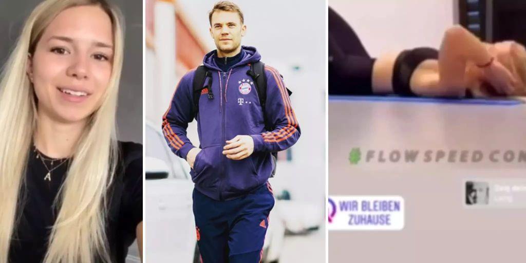 Manuel Neuer Schwitzte Schon Vor Wochen Mit Neuer Freundin Im Gym