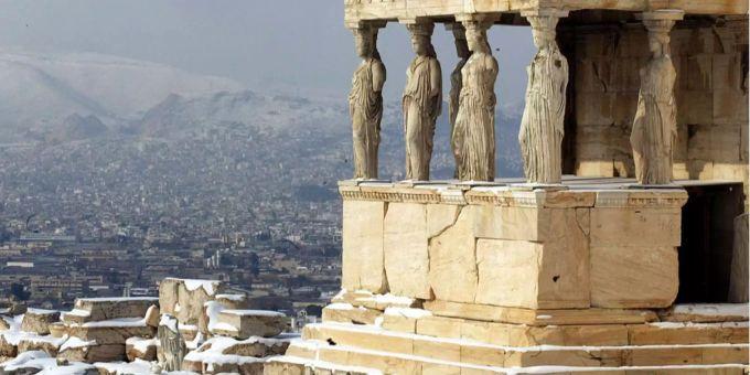 Weihnachten In Griechenland Bilder.Weisse Weihnachten In Griechenland