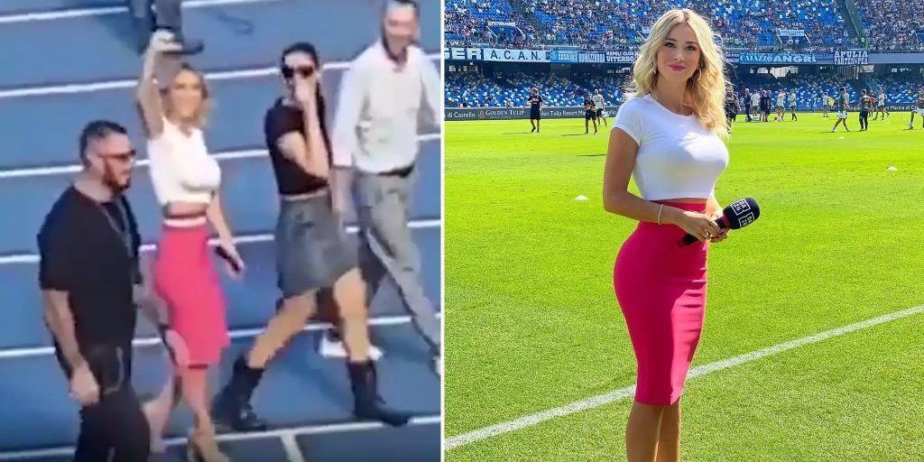 Ssc Napoli Sexismus Attacke Von Fans Gegen Star Moderatorin