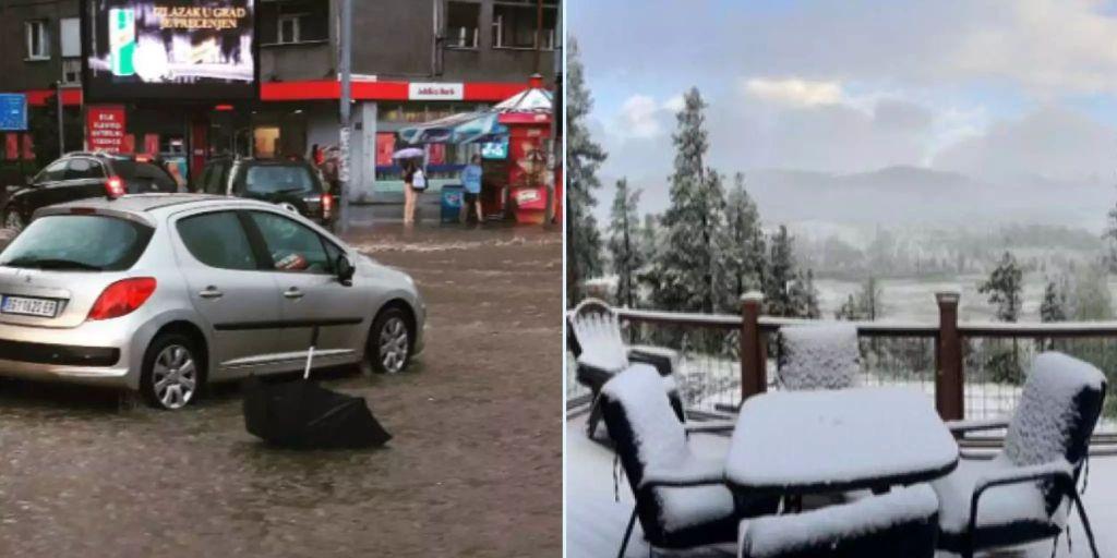 Wetter spielt auf der ganzen Welt verrückt