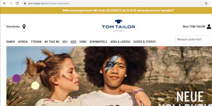 factory price 7ddf7 1b993 Tom Tailor lanciert Onlineshop in der Schweiz
